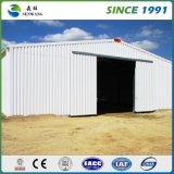 Hangar facile élevé/atelier/entrepôt de structure métallique de construction de Qualtity avec la grue
