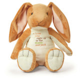 かわいいAniamlはプラシ天によって詰められるおもちゃのウサギの卸売をもてあそぶ