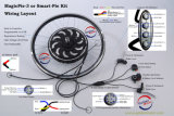 Kit eléctrico del H3AGALO USTED MISMO de la E-Bici del kit del mecanismo impulsor de la empanada 5 de la generación 500W-1000W del kit eléctrico mágico de la bici