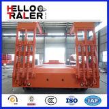重い装置の輸送のQuatarの低いベッドのトレーラー