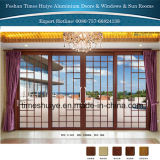 puertas deslizantes resistentes de aluminio de 1.6m m a de 3.0m m con el vidrio Tempered