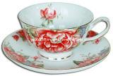 Tasse et soucoupe décorées 125CC (GS0125C-2D)