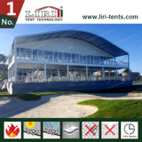 Barraca do evento de esportes da ponte dobro do telhado da abóbada do arco com as paredes de Galss para eventos do golfe