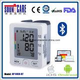 Type sans fil du poignet Bt4.0 moniteur de pression sanguine (point d'ébullition 60EH-BT) avec le cas