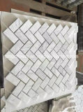 "3 ""X6"" Carrara Brick White Marble Mosaic Interior Mural de parede decorativa"