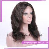 Parrucca piena reale del merletto dei capelli umani del nodo del candeggiante di Glueless