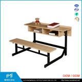 中国の製造者の高品質によって接続される学校の机および椅子/学校の机