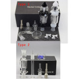 conduite d'eau en verre de Collectar de nectar de 14/18mm avec l'espace libre blanc noir
