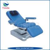 Chaise à trois fonctions de don de sang avec deux moteurs