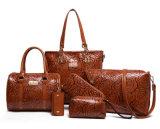 手の女性方法一定袋PU革デザイナーハンドバッグ