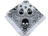 Il motociclista promozionale personalizzato su ordine del cotone stampato cranio di disegno mette in mostra la fascia del Bandana