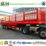 Carrier Livestock를 위한 4 차축 Fence Cargo Semi Trailer