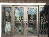 Sidelights Front Door를 가진 최고 Quality Iron Entry Doors