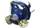 Silicone Full Face Wide Field Dual Cartridge Protector Respirators Mark