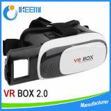 Le cadre 2016 de Vr en verre de virtual reality a ajusté l'écouteur de Vr de logo d'impression 4.7 à 6.0 de pouce en verre du téléphone mobile 3 D