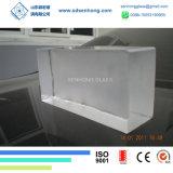 장식적인 유리벽을%s 공간에 의하여 서리로 덥는 단단한 투명한 유리 벽돌