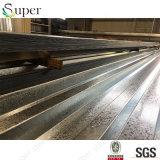 Lo zinco ha ricoperto il piatto d'acciaio galvanizzato strato della piattaforma di pavimento d'acciaio del metallo