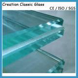 Plano/dobló el vidrio laminado azul claro del vidrio laminado PVB de EVA