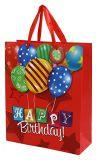 Bolso del regalo de cumpleaños, bolso de compras de papel, bolsa de papel de Kraft, bolsos de la fiesta de cumpleaños actuales 3D con las etiquetas