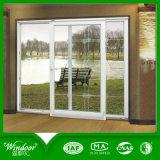 Окно приема PVC Windows Lastet стеклянное сползая