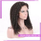Parrucche piene indiane del merletto dei capelli umani di Remy Glueless del Virgin