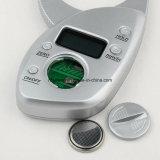 Analisador portátil da pele do compasso de calibre da gordura de corpo do LCD do indicador da alta qualidade de Digitas
