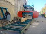 La bande en bois horizontale de découpage de scierie de travail du bois a vu