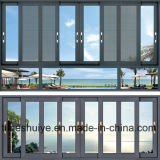 Schiebendes Aluminiumfenster mit dem ausgeglichenen (abgehärteten) glasierenden Glas/