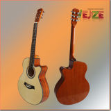 Sitka  Guitarra popular superior con Purfling hermoso