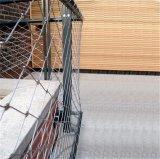 Sicurezza che cattura con la rete la maglia della corda dell'acciaio inossidabile, collegare tessuto dell'acciaio inossidabile che recinta maglia