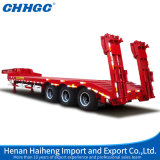 4 Axles 80 Tons Low Bed Semi Trailer с Hydraulic Ladders для Sale