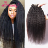 Cabelo reto Kinky do Mongolian do Virgin do Weave superior do cabelo de Remy