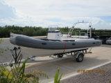 Barco inflable de la costilla de la fibra de vidrio de la pesca del barco los 6.6m Hypalon del casco rígido del fabricante del barco de Liya