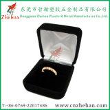 熱い販売の宝石類のギフトのためのプラスチックビロード指リングの荷箱