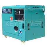 охлаженный воздухом портативный тепловозный комплект генератора 5kVA с системой маховика поручая