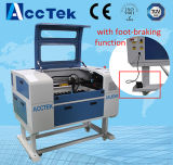 Автомат для резки гравировки лазера СО2 с педальным тормозом Akj6040