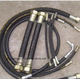 Mangueira de borracha hidráulica espiral reforçada fio para SAE100r12