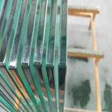 vidro de segurança Tempered desobstruído de 10mm para o trilho de cerca
