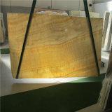 24X24は磨かれた中国の黄色い蜂蜜のオニックス大理石の価格をタイルを張る