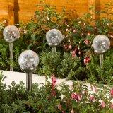 Lumière solaire de jardin de globe multi de couleur fabriquée en Chine