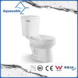 Toilette en céramique de cabinet en deux pièces de Siphonic de salle de bains (AT1020)