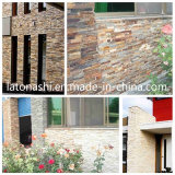 Building Decorativer를 위한 까만 Cultured Stone Veneer Quartzite Wall Panel