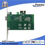 Cartão de relação da rede da fibra óptica I210