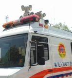 Câmara de vigilância do tráfego do uso do carro de polícia