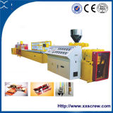 Machine en plastique en bois d'extrusion de profil de qualité
