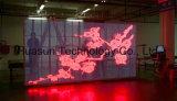 (Trasporto-Occhi) video visualizzazione di LED trasparente di vetro della parete HD del LED per fare pubblicità