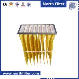 Filtre à manches moyen de fibres de verre pour le traitement d'air