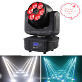 새로운 Zoom 6X15W RGBW 4in1 Mini LED Moving Heads Beam