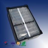 분배자를 가진 방수 정전기 방지 물결 모양 플라스틱 운반물