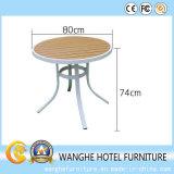 Mesa de centro de madeira do metal da placa de tabela da alta qualidade para ao ar livre